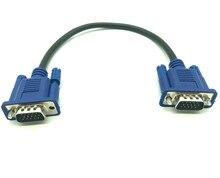30 ซม.50 ซม.VGA สายชาย MaleBraided SHIELDING High Premium HDTV VGA คอมพิวเตอร์ทีวีจอแสดงผลสัญญาณสายสั้น 0.3 M/0.5 M