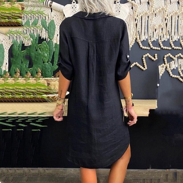 fun shirt dress, collared and short sleeved 5