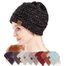 Women Knitted Winter Warm Hat Fashion Casual Beanie Hats Unisex Outdoor Skiing Hat Female Soft Wool Thick Baggy Cap 21*22cm outdoor plaid velvet baggy beanie