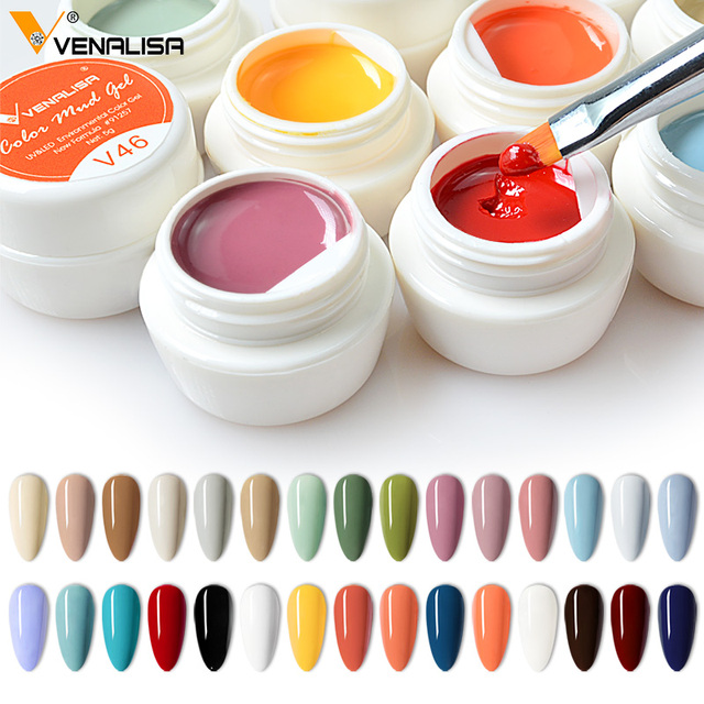 VENALISA Color Mud Gel 2021 Newest Pure Color Paint Gel DIY Nail Art Design Quality Nail Gel Polish Manicure Varnishes UV Gel 3