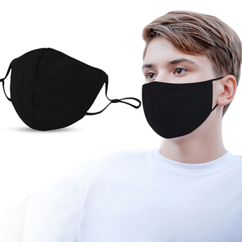 10pcs Cotton PM2.5 Black mouth Mask 3 layer anti dust mask Windproof Mouth-muffle bacteria proof Flu Face masks Care