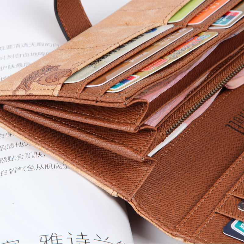 Купить с кэшбэком Women World Map Leather Wallets Men Credit Card Passport Wallets and Purses Long Design Travel Wallet Coin Purse Clutch Purse