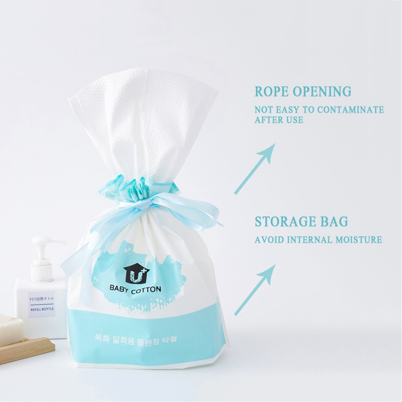 Disposable Facial Towel With Storage Bag Cotton Non-woven Fabric Facial Cleansing Cloths Facial Tissues 170g/Roll