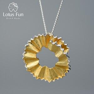 Image 1 - Lotus zabawy prawdziwe 925 Sterling Silver Handmade Fine Jewelry kreatywny ołówek wióry projekt wisiorek bez naszyjnik dla kobiet prezent