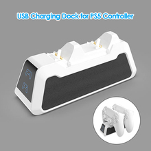 Dual Fast Charger for PS5 Wireless Controller USB 3.1 Type C Charging Cradle Dock Station for Sony PlayStation5 Joystick Gamepad