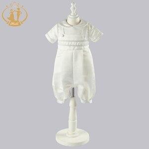 Image 4 - ذكيا الطفل الصبي الملابس التعميد أثواب الصلبة الطفل الملابس الوليد الرضع الملابس معطف أبيض 3M 6M 9M 12M vestidos