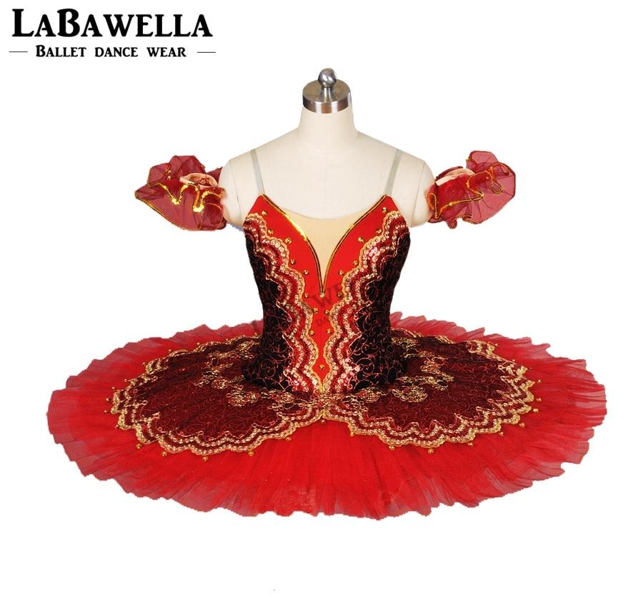 adult performance ballerina ballet costume Don Quixote women girls black red tutu competition classical professional tutuBT8941D