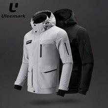 Waterproof Jacket Windbreaker Rain-Coat Uleemark Hooded Lightweight Men's Packable