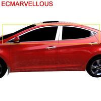 자동차 창 바디 헤드 램프 Rearlamp 자동차 장식 크롬 자동차 스타일링 스티커 스트립 12 13 14 15 16 FOR Hyundai Elantra|크로뮴 스타일링|   -