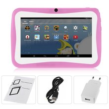 7 Inch Kids Tablet PC Android 4.4.2 Tablet 1.5GHZ Quad Core 8GB WIFI Tablet 1024x600 HD Screen Children Education Device yuntab 7 inch q88 allwinner a33 quad core 512mb 8gb android 4 4 2 kids tablet pc hd screen dual camera with silicone case