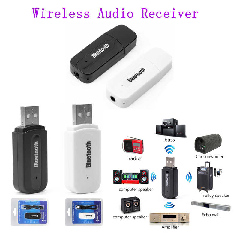 2 Pcbluetooth Receiver Mobil Bluetooth Aux 3.5 Mm Nirkabel Bluetooth Musik Audio Receiverhandsfree Call Mobil Transmitter Auto Adaptor
