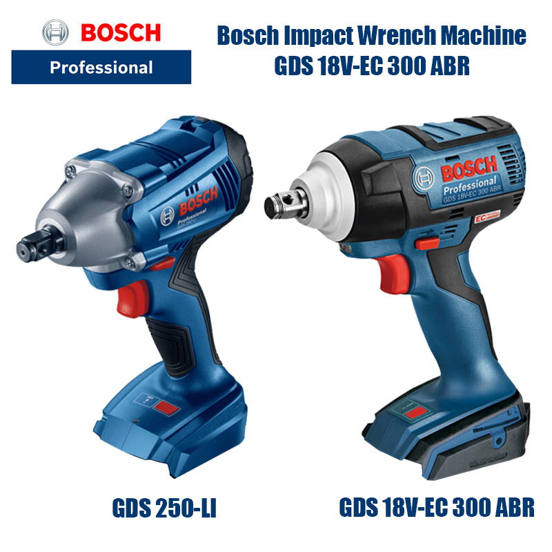Bosch GDS 18V EC 300 ABR Cordless Electric Wrench Driver Lithium Screwdriver Screwdriver Brushless (bare metal version 300 Nm) Electric Wrenches    - AliExpress