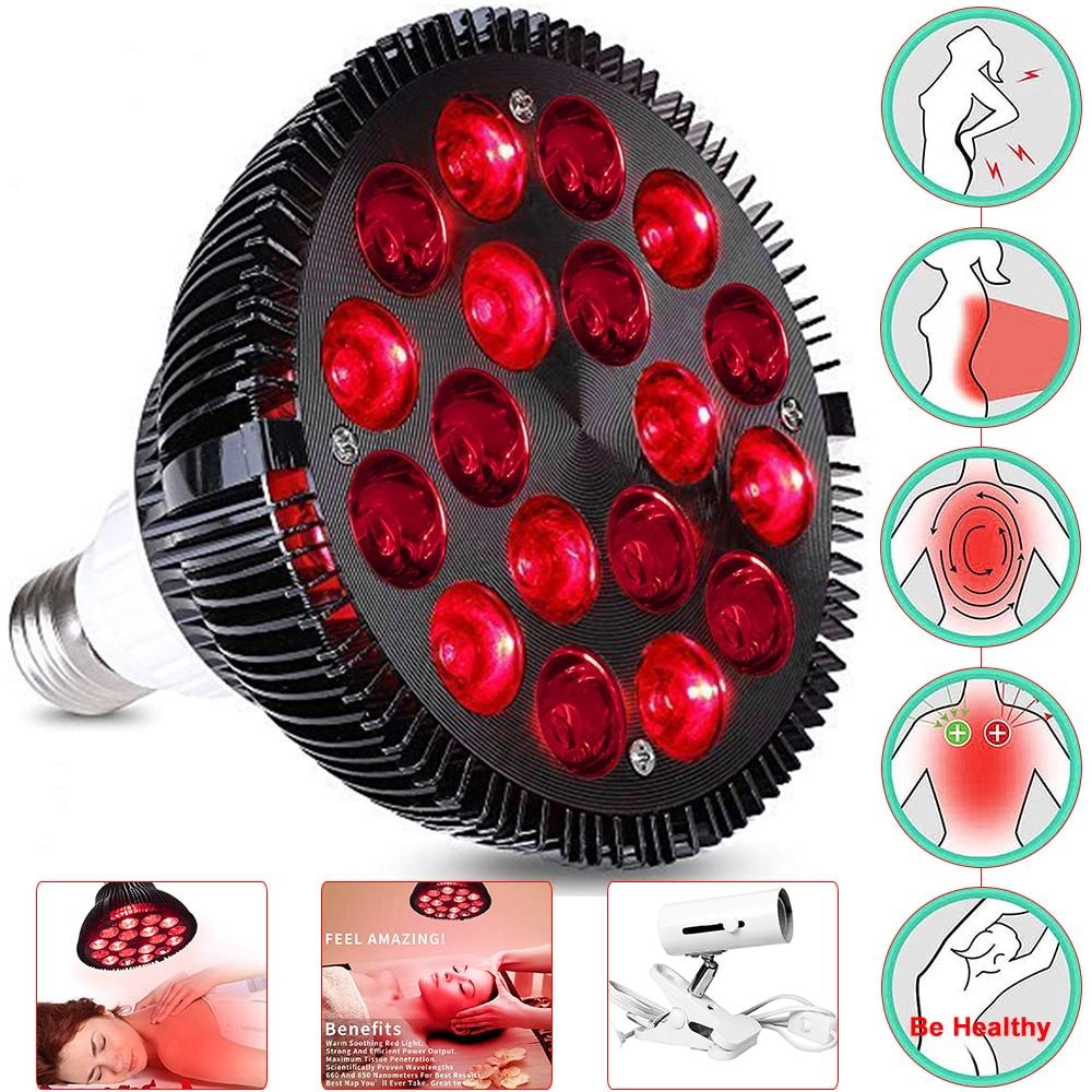 Rot Lichttherapie Lampe 18/54W LED Infrarot Licht Therapie Gerät 660nm 850nm Infrarot Combo Für Hautpflege schmerzen Relief Health Care