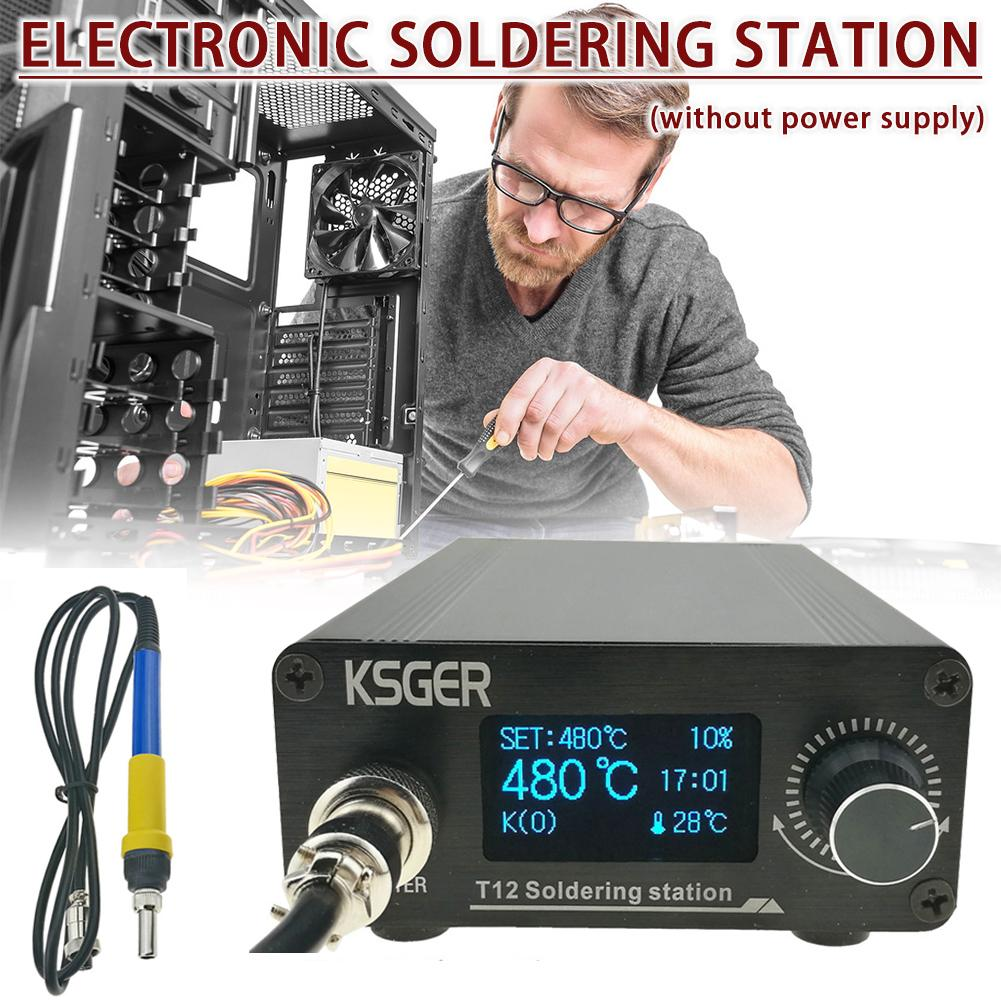 KSGER T12 V3.0 STM32 OLED Digital Temperature Controller Soldering Station Soldering Iron Rods T12-K B2 BC2 D24