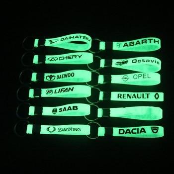 LLavero de silicona luminoso para coche, para Renault, Opel, Dacia, Saab, Chery,...