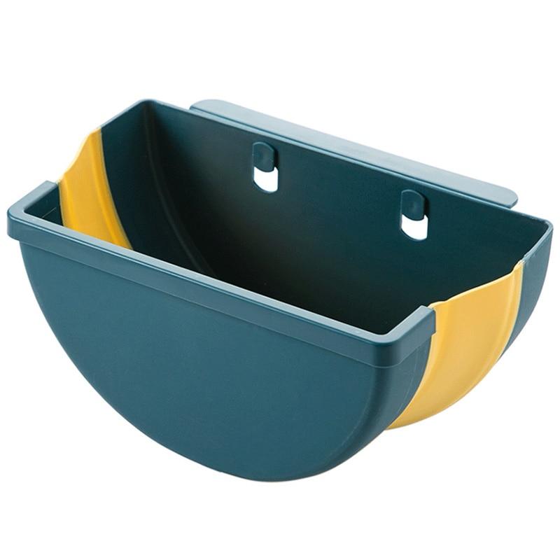 large foldable kitchen trash plastic storage box organizer for kitchen accessories storage basket kitchen storage box/rack Shelf 6