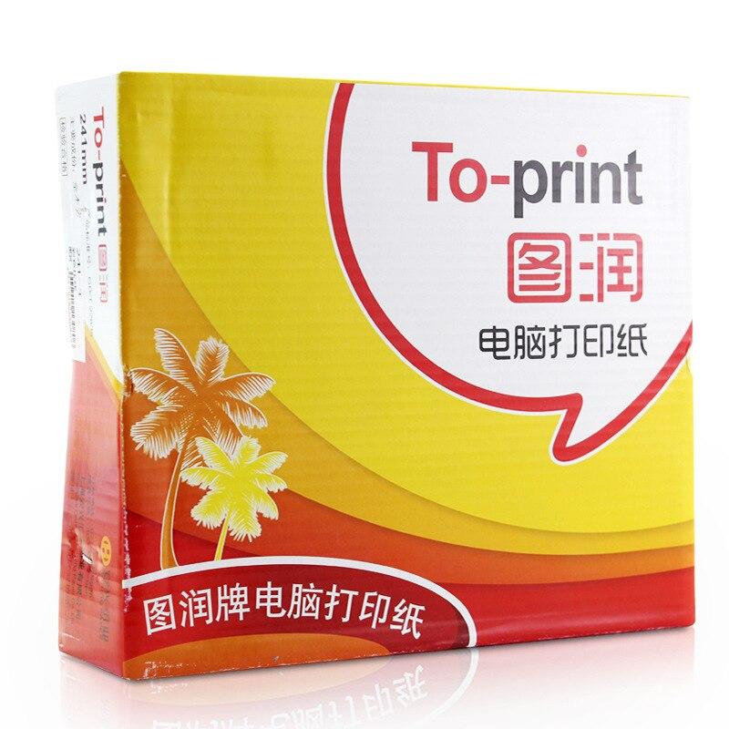 Tu Run Computer Printing Paper 1, 2, 3, 4 5-frame Six-layer Dot Matrix Computer Printing Paper 241-3 Printing Paper A