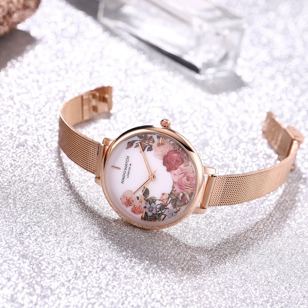 Fashion Women Watch 2019 Stainless Steel Flower Ladies Wrist Watch Luxury Women Bracelet Watch For relogio feminino Female Clock