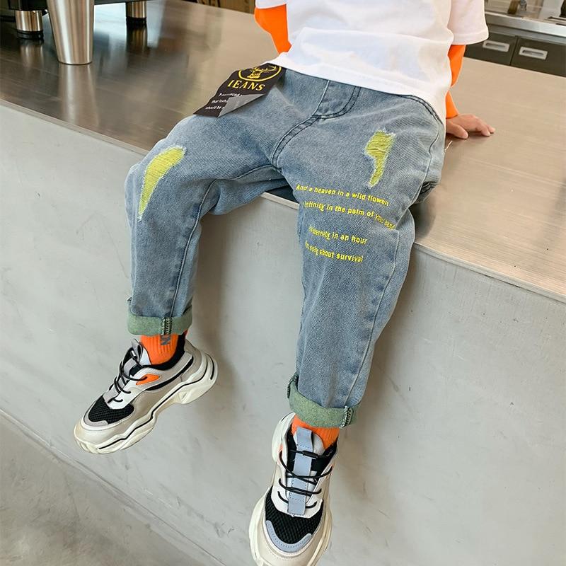 Childrens Ripped Denim Jeans