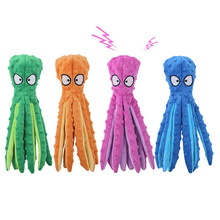 8 Legs Octopus Soft Stuffed Plush Dog Toys Outdoor Play Interactive Squeaky Dogs Toy Sounder Sounding Paper Chew Tooth toy