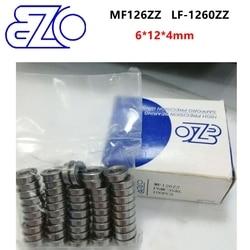 10 шт/50 шт Япония эзо высокой скорости, фланцевая втулка подшипника MF126ZZ 6*12*4 мм LF-1260ZZ точность Миниатюрный фланцевый подшипники 6x12x4