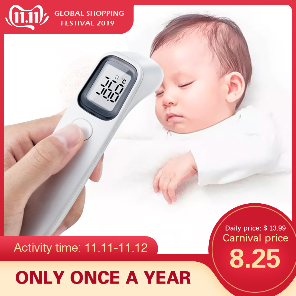 AVICHE LCD Digital Non-contact IR Infrared Thermometer Forehead Body Temperature Meter For Baby Kid And Adult