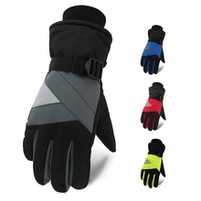 Skiing  Water Resistant Windproof Gloves Full Finger Thick Thermal Fluffy Handwear Outdoor Winter Cycling Sportswear Accessories