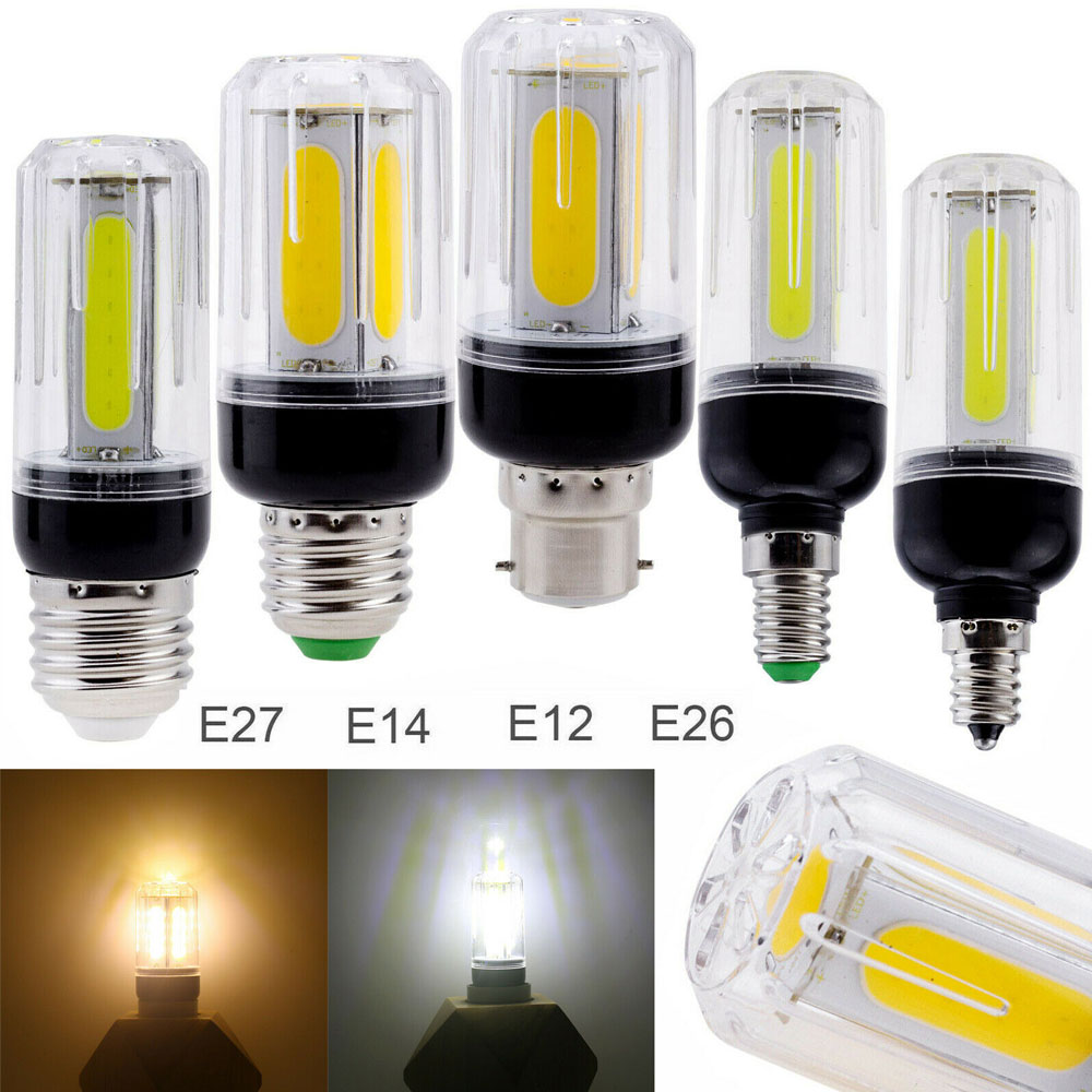 2019 New LED Corn Bulb E27 E12 E26 E14 B22 Bayonet 12W 16W COB Cold/ Warm White Light Replace 60W 80W Incandescent Lamp