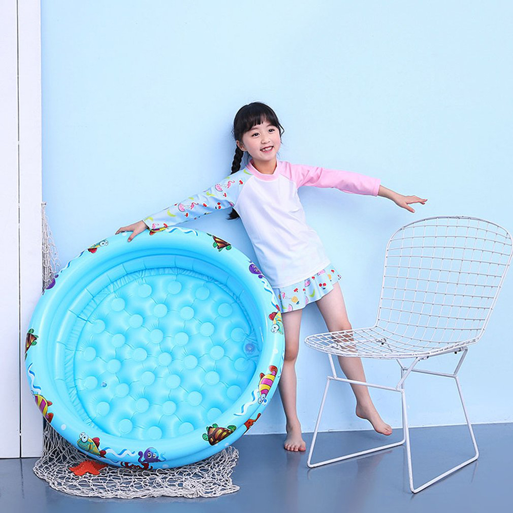 Summer Kids Inflatable Round Swimming Pool Children Basin Bathtub Outdoors Water Sports Play Toys Paddling Pool Floating Toy