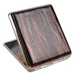 Étui de rangement de tabac en cuir SP99 | Boîte de Cigarette rétro et métallique porte-pochette, conteneur de stockage de tabac