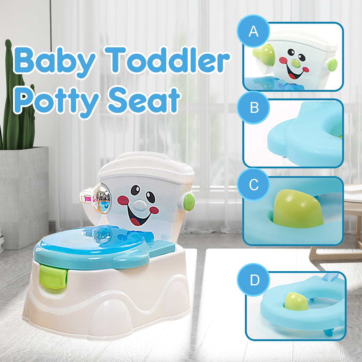 Portable Baby Pot Toilet Seat Pot For Kids Potty Training Seat Children's Potty Baby Toilet Multi-function Training Potty Toilet