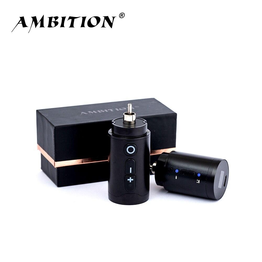 Ambition беспроводной источник питания для татуировок RCA Интерфейс для роторной машины литейный адаптер Быстрая зарядка