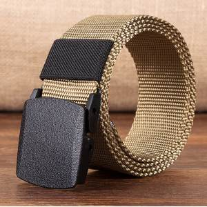 Fashion Man Women Automatic Nylon Belt Buckle Military Fans Tactical Canvas Belt Without Buckle for Men Outdoor Tactical Waist B