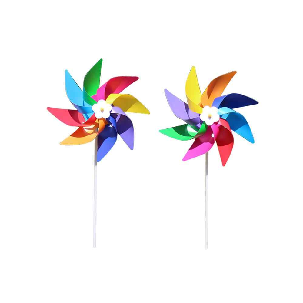 Plastic Kleurrijke Windmolen Wind Spinner Kids Speelgoed Lawn Yard Party Decor Outdoor Handgemaakte