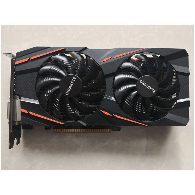 Видеокарта Gigabyte RX 570 4 Гб AMD Radeon RX570 4 Гб игровая видеокарта 500 GPU Настольный ПК Компьютерная игровая карта Видеокарта-5