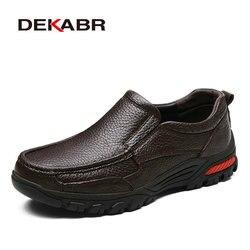 Dekabr moda confortável respirável macio mocassins de couro genuíno sapatos masculinos de alta qualidade faltas casuais oxfords tamanho 38-48