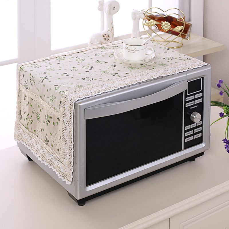 Home Microwave Oven Covers Dustproof Microwave Dust Cover Hood Modern Simple Machine Protector Decor Kitchen Appliance Covers