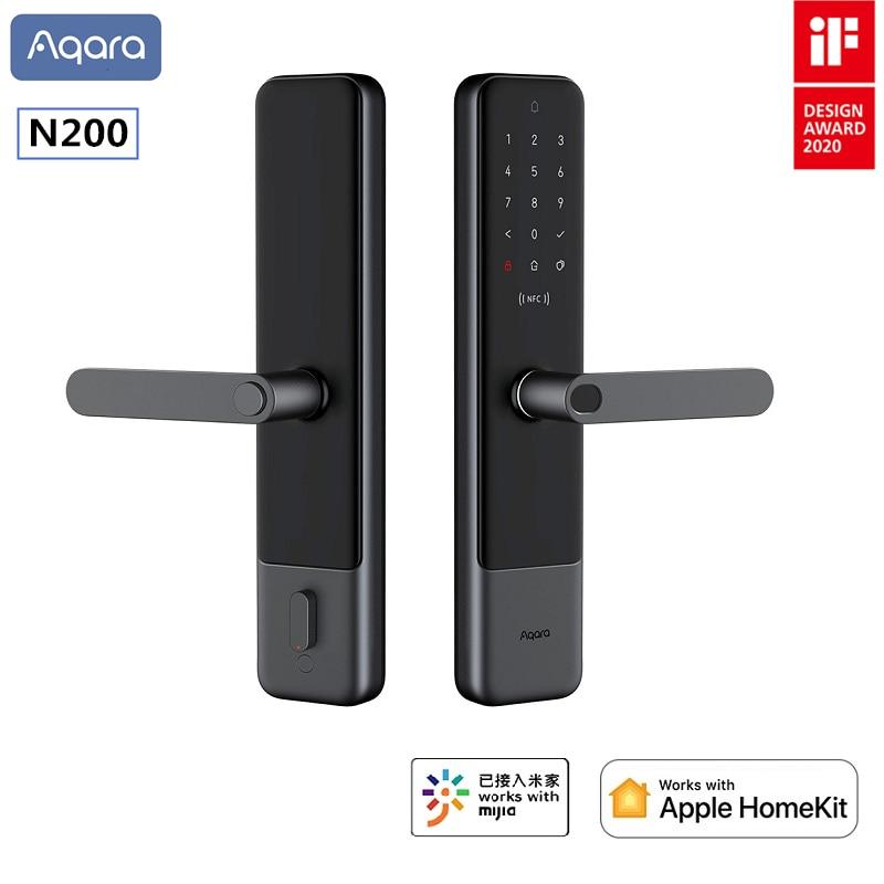 Newest Aqara Smart Door Lock N200 Fingerprint Bluetooth Password NFC Unlock Support Mijia HomeKit Smart Linkage With Doorbell