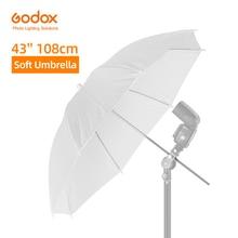 """Godox 43 """"108 cm beyaz yumuşak difüzör stüdyo fotoğrafçılığı saydam şemsiye stüdyo flaş Strobe aydınlatma"""