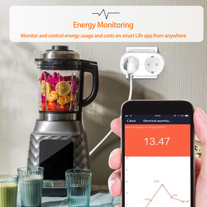 Image 5 - Wifi חכם שקע 2 ב 1 חכם תקע 16A האיחוד האירופי Outlet תקע צג אנרגיה Saver עובד עם Google בית מיני Alexa