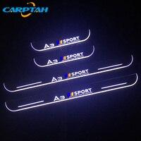 4 PCS CARPTAH Trim Pedal Auto Außen Teile LED Tür Schwellen verschleiss Platte Pathway Dynamische Streamer licht Für Audi A3 s3 2014 2015-in Nerf Bars & Trittbretter aus Kraftfahrzeuge und Motorräder bei