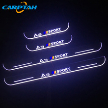 CARPTAH Trim Pedal Auto Außen Teile LED Tür Schwellen verschleiss Platte Pathway Dynamische Streamer licht Für Audi A3 S3 2014 2015