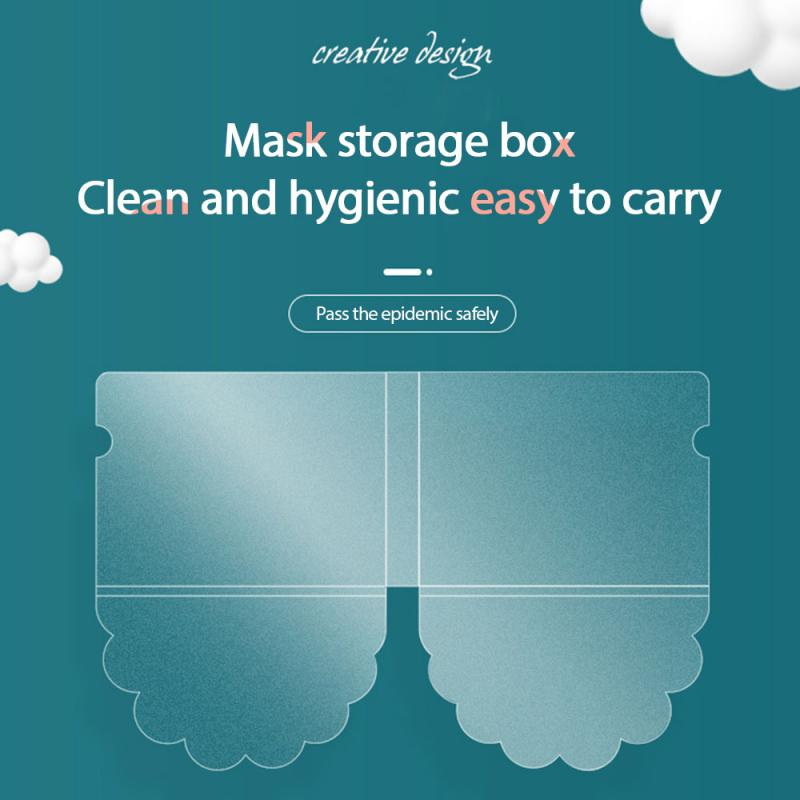 Mask Storage Clip Foldable Transparent Temporary Storage Disposable Face Masks Holder Portable Mask Folder Masks Accessories(China)