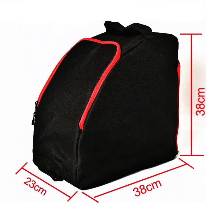 Adult Thick Professional Ice Ski Snow Boots Bag Helmet Big Portable Carry Waterproof Shoulder Bag For Snowboard Sport 38x38x23cm