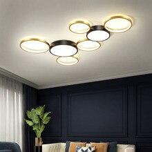 Nordic modern living room LED ceiling lamp bedroom lamp restaurant LED chandelier hotel lamp round LED lamp factory direct sales