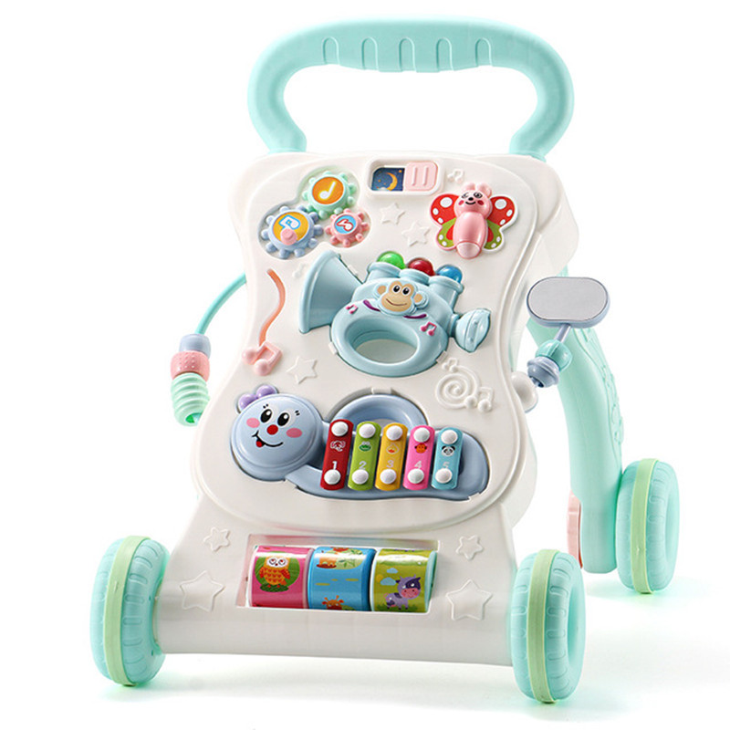 Multifunctional baby walker anti rollover trolley baby child music play adjustable speed walker