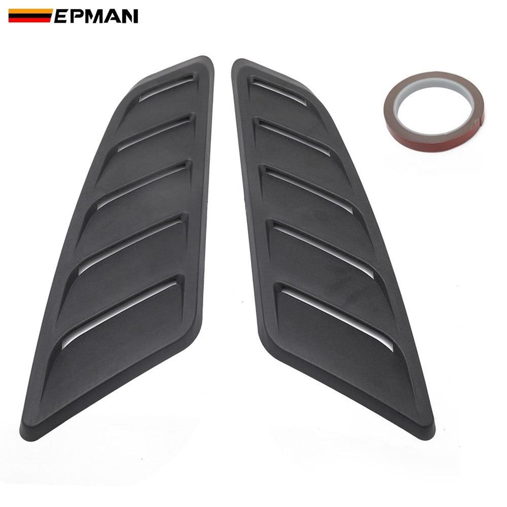 EPMAN Universal Hood Louvers Panels Air Flow Vent Cover Car Roof Decorative Intake Hood Scoop 2pcs EP-TFTY110