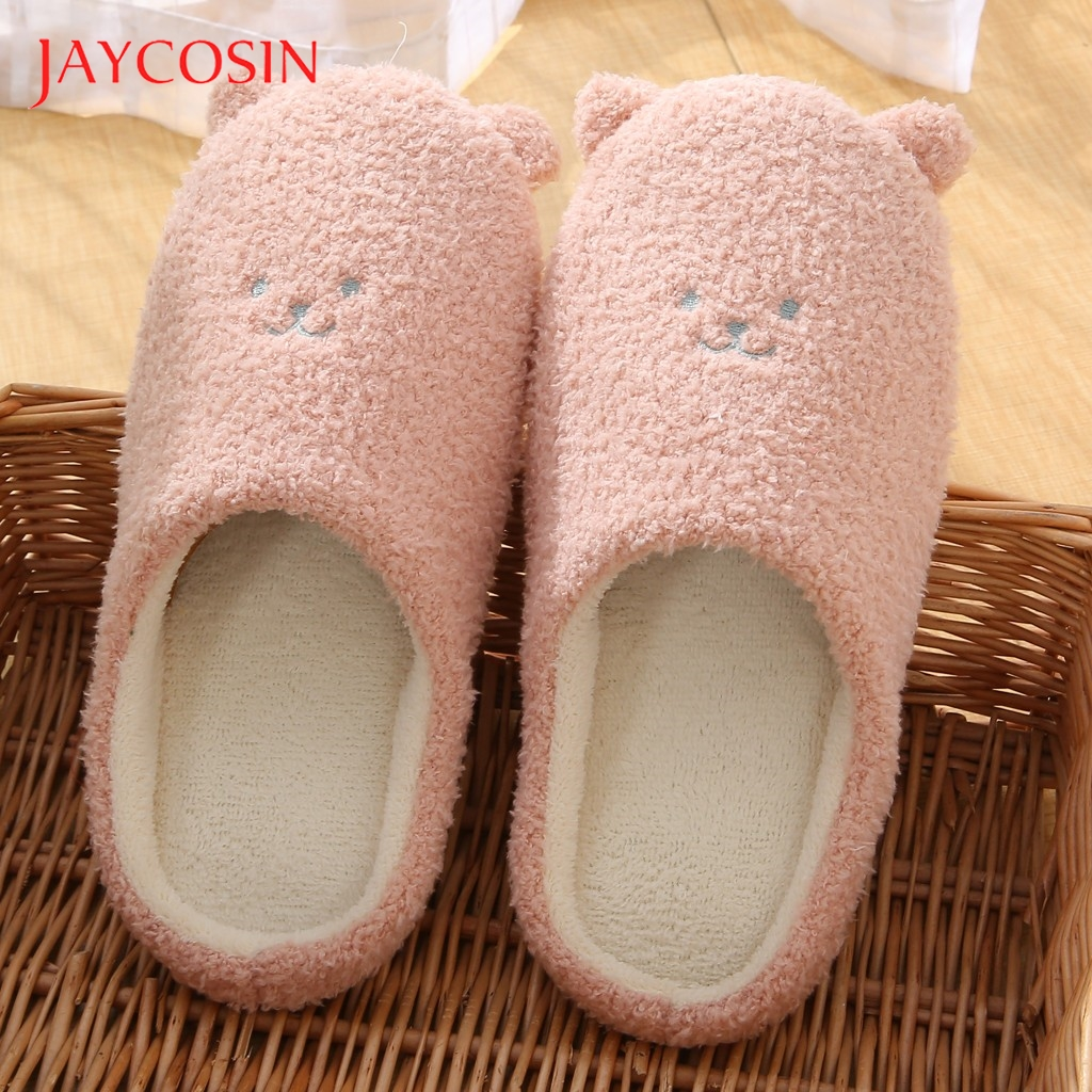 Jaycosin Shoes woman House home slippers women Slip-On Anti-Skid Bear Indoor Casual Shoes Snow winter shoe slides Dropshipping 1