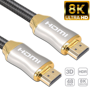 1m 2m 3m 8K HDMI Cable 4K 60HZ UHD HDR 48Gbps V2.1 for Xiaomi Samsung Screen TV PS4 Splitter Switch Audio Video Cable 8K HDMI