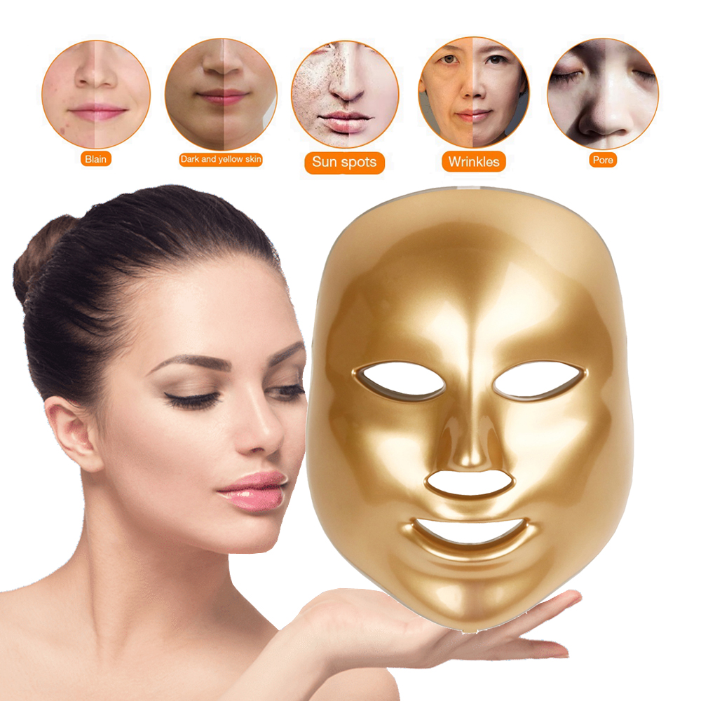 7 Colors Led Facial Mask Face Mask Korean Therapy Tools For Beauty Skin Care Facial Treatment Mask Beauty Salon Home Use Beauty Devices Aliexpress
